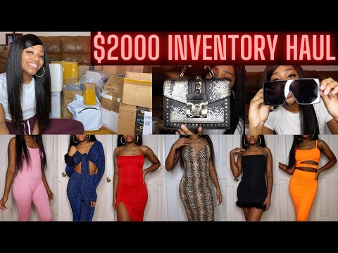 ENTREPRENEUR LIFE EP 1: $2000 INVENTORY HAUL  | Starting My Online Clothing Boutique