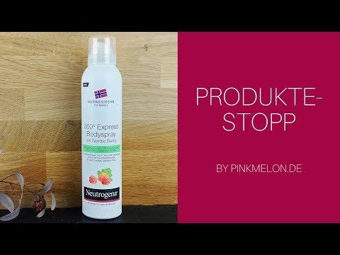 Neutrogena® 360° Express Bodyspray Nordic Berry im Pinkmelon Produkte-Stopp