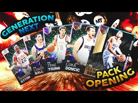 1.7 MILLION VC PACK OPENING FOR GENERATION NEXT PROMO! GALAXY OPAL LUKA DONCIC! NBA 2K19