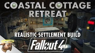 COASTAL COTTAGE BUNKER - Realistic Fallout 4 Settlement Tour & Battle! #ShareEveryWinFallout4