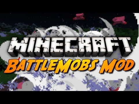 Minecraft Mod Review: BATTLEMOBS MOD! (Passive & Aggressive Mobs Battle!)