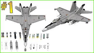 INSTRUCTIONS: LEGO F-18 HORNET (PART 1/3)