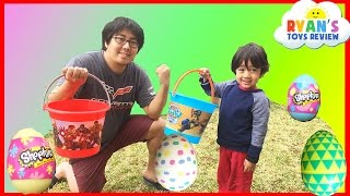 Easter Eggs Hunt Surprise Toys Challenge Water Balloons Fight Shopkins Disney Cars Toys Paw Patrol