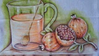 Romãs – Pintura em Tecido