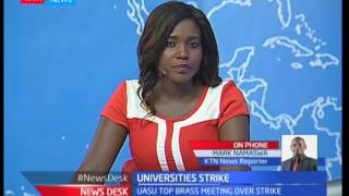 Universities strike : Strike over AN unimplemented CBA