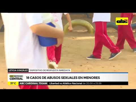 Abusos sexuales a menores: 18 casos en enero