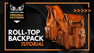 How To Make Leather Roll Top Backpack With PDF PATTERN