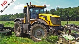 Mowing Grass 2018 | JCB Fastrac 8250 + Vicon Triple Mowers | Gras Maaien | Kroes | Elspeet.