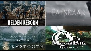 Skyrim Falskaar e Wyrmstooth Helgen Reborn Moonpath to Elsweyer Mods