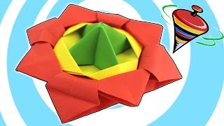 Spinning Top Toy Video Tutorial (Action Origami)