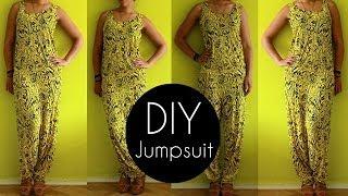 Easy DIY Jumpsuit Tutorial in 30min   DIY Clothes