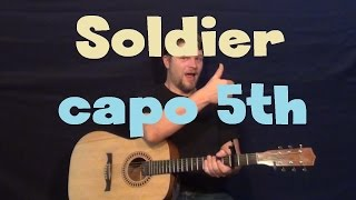 Soldier (Damien) Guitar Lesson - How to Play Tutorial Capo 5th