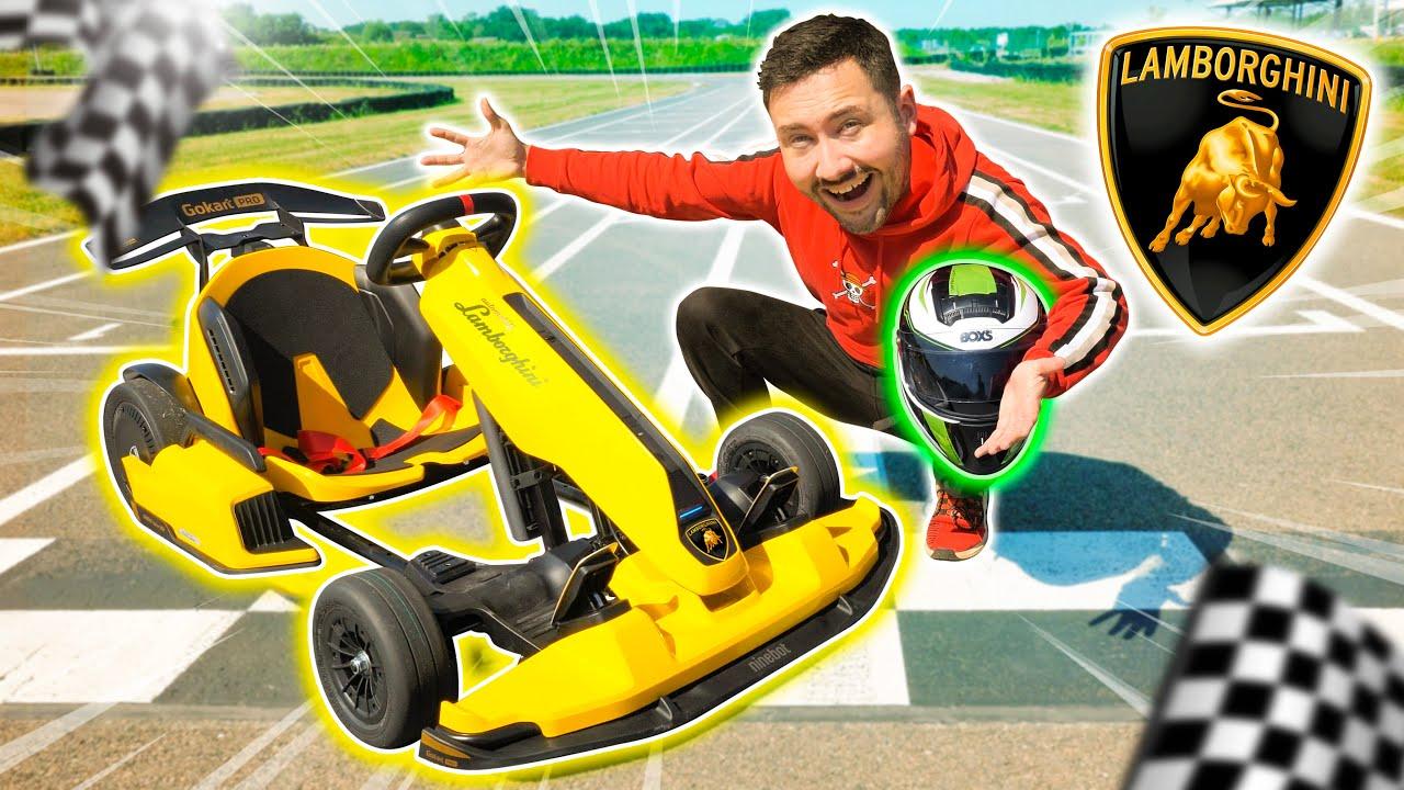 Je teste le 1er Kart Lamborghini sur Circuit ! (tellement rapide)