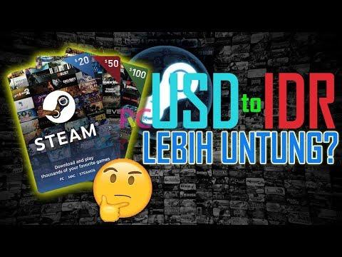 Cara Mengisi Steam Wallet USD Dollar ke Steam IDR Indonesia Rupiah di Tokopedia: Lebih Untung?