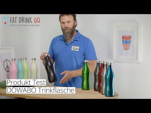 DOWABO Edelstahl Trinkflasche Iso 0,7 L