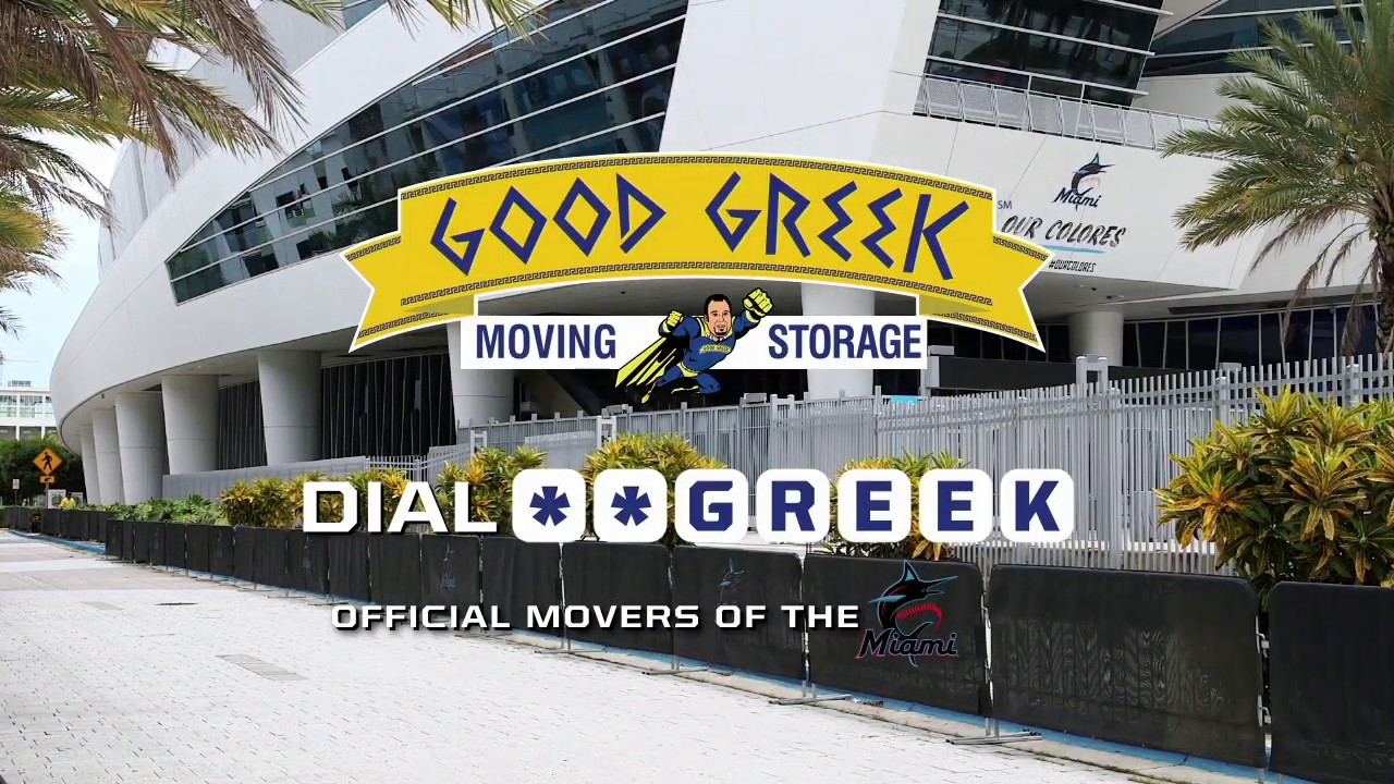 Official Movers of the Miami Marlins Good Greek Moving
