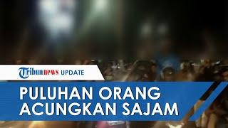 Viral Video Puluhan Orang Konvoi & Acungkan Senjata Tajam di Banten, Polisi Buru Pelaku