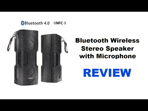Bluetooth Wireless Stereo Speaker With Microphone – Wireless Speaker System REVIEW