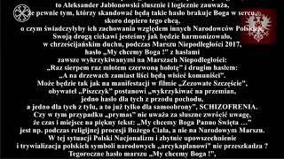 ROTA-ENDECY komentuje tekst Wałacha o Aleksandrze Jabłonowskim