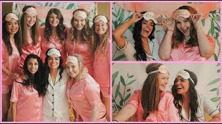 MY BACHELORETTE PARTY SLEEPOVER! | LifeWithKimm
