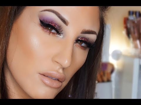 BEST GLITTER NYE MAKEUP TUTORIAL