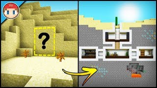 Minecraft: How To Build A Desert Secret Base Tutorial - Hidden Base (Easy Tutorial)