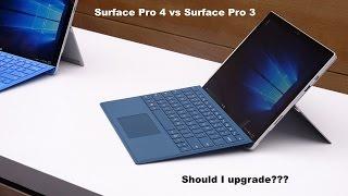 Surface pro 4 vs Surface Pro 3: Should I Upgrade???