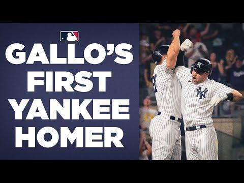 Joey Gallo mashes a TOWERING 3-RUN GO-AHEAD homer! (First home run as a Yankee)