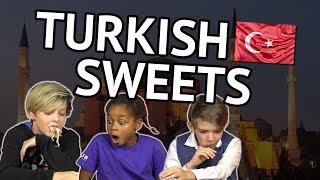 German Kids try Turkish Sweets