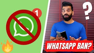 Huge Whatsapp Ban In India - 20,11,000 Accounts BAN - Stay Safe🔥🔥🔥