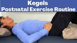 Postpartum Kegels Exercises for Beginners Routine | Postnatal Exercises (1-6 Months)