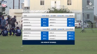 USA vs Denmark - LIVE International Cricket from WCL3 in Oman