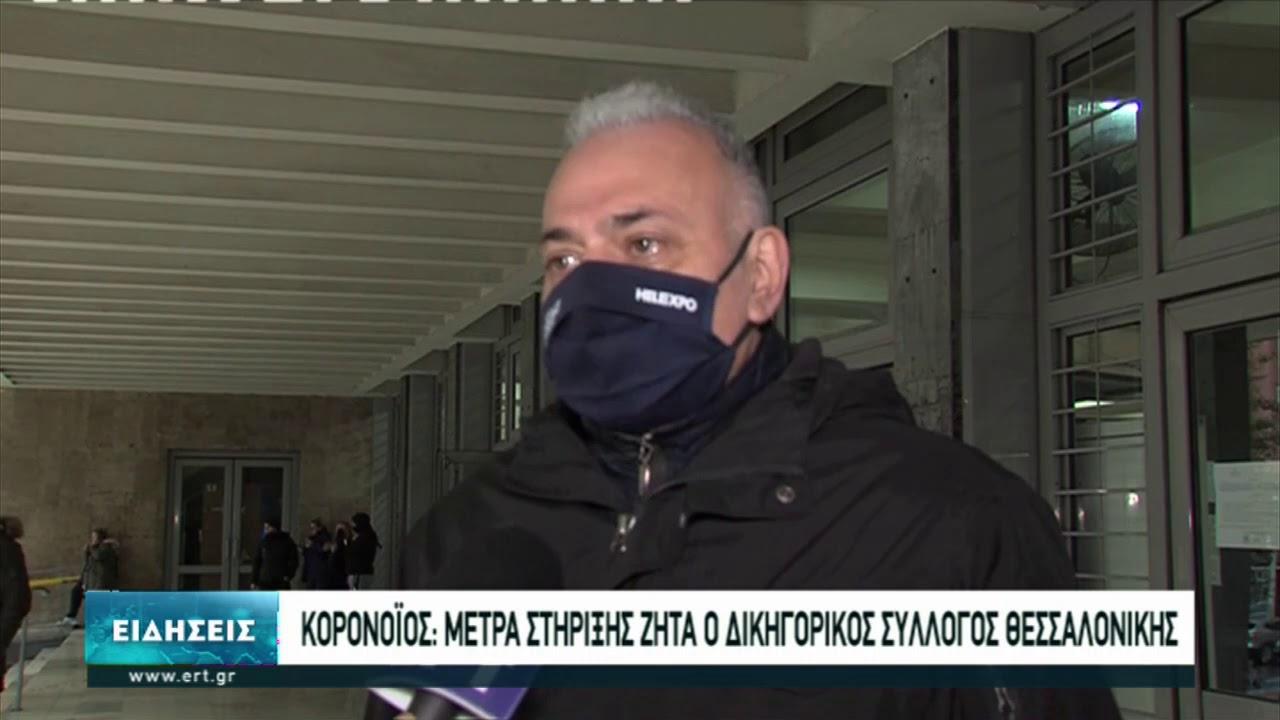 Μέτρα στήριξης για τα μέλη του ζητά ο Δικηγορικός Σύλλογος Θεσσαλονίκης | 07/12/2020 | ΕΡΤ
