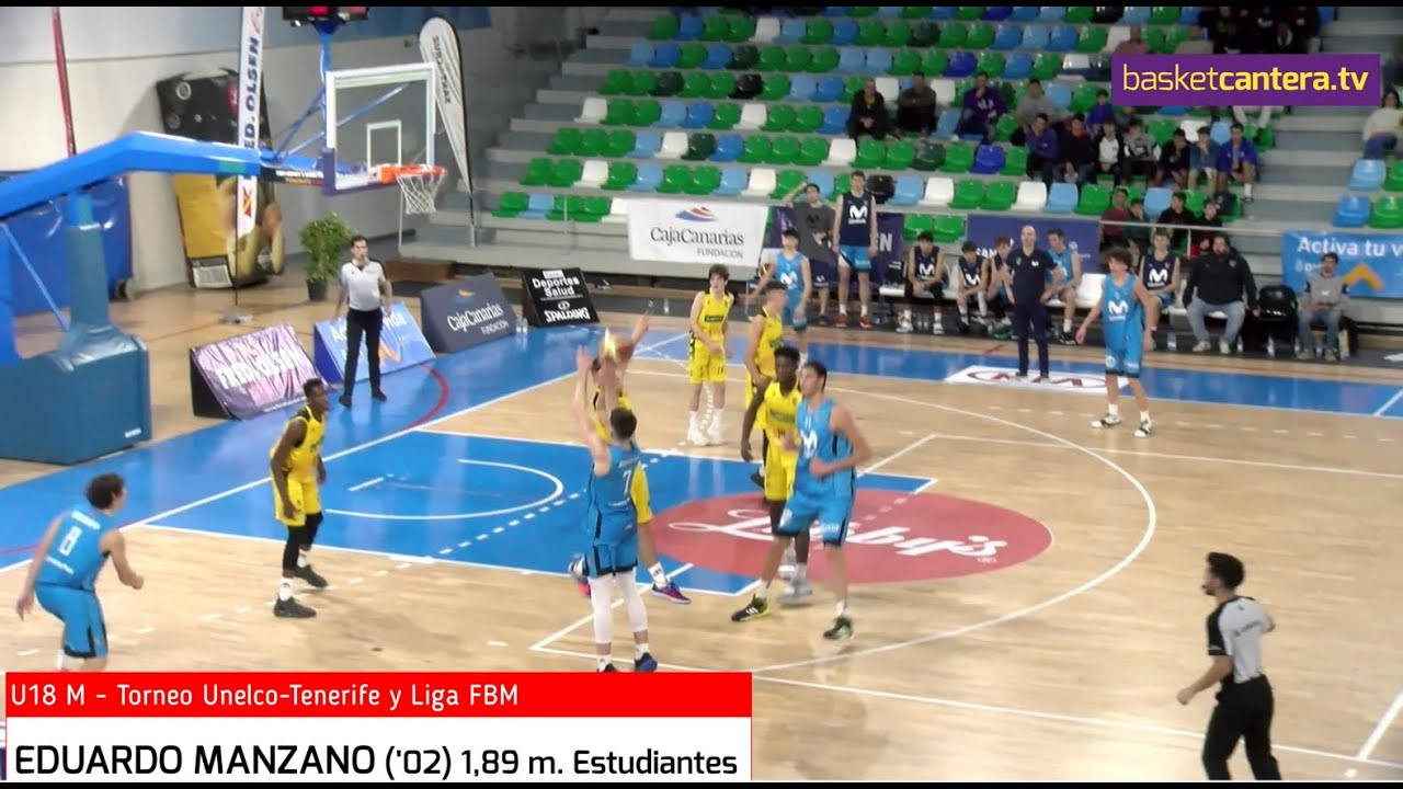 EDUARDO MANZANO ('02) 1,89 m. Estudiantes. Torneo Junior Unelco-Tfe. (BasketCantera.TV)