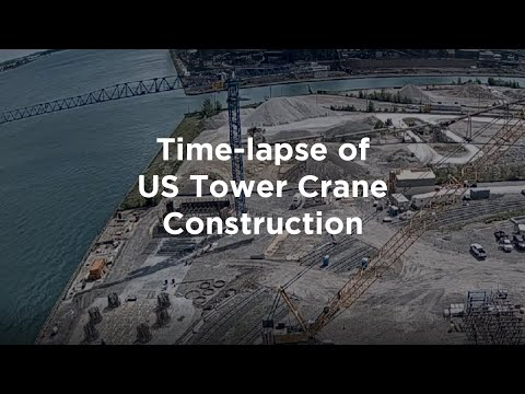 Time-lapse of Tower Crane Construction