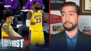 Nick Wright reacts to the Lakers blowout loss to OKC | NBA | FIRST THINGS FIRST