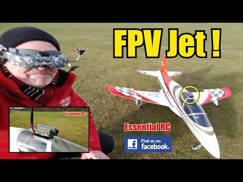 First Person View (FPV) RC JET RIDE (RunCam2 FPV docking station): ESSENTIAL RC FLIGHT TEST [4K]