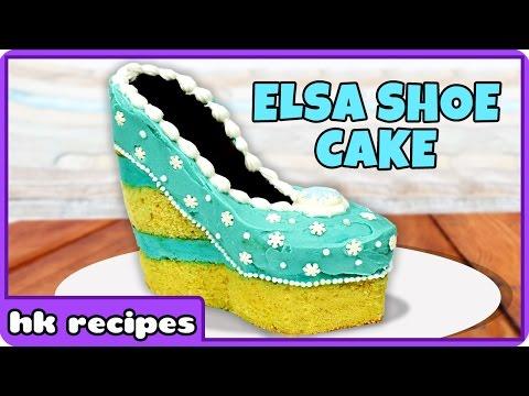 Frozen Elsa Shoe Cake Recipe | DIY Princess Birthday Cake Recipe by HooplaKidz Recipes
