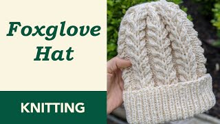 How to Knit: Snow White Foxglove Hat. Circular Needles 4 mm (US 6) & 5 mm (US 8).