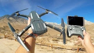 C-Fly Obtain F803 Brushless FPV Folding 1080p FHD Camera Drone Flight Test Review