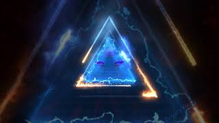 Animated Neon Video Background HD - Saber Lighting Frame template | Neon concentric triangular loop