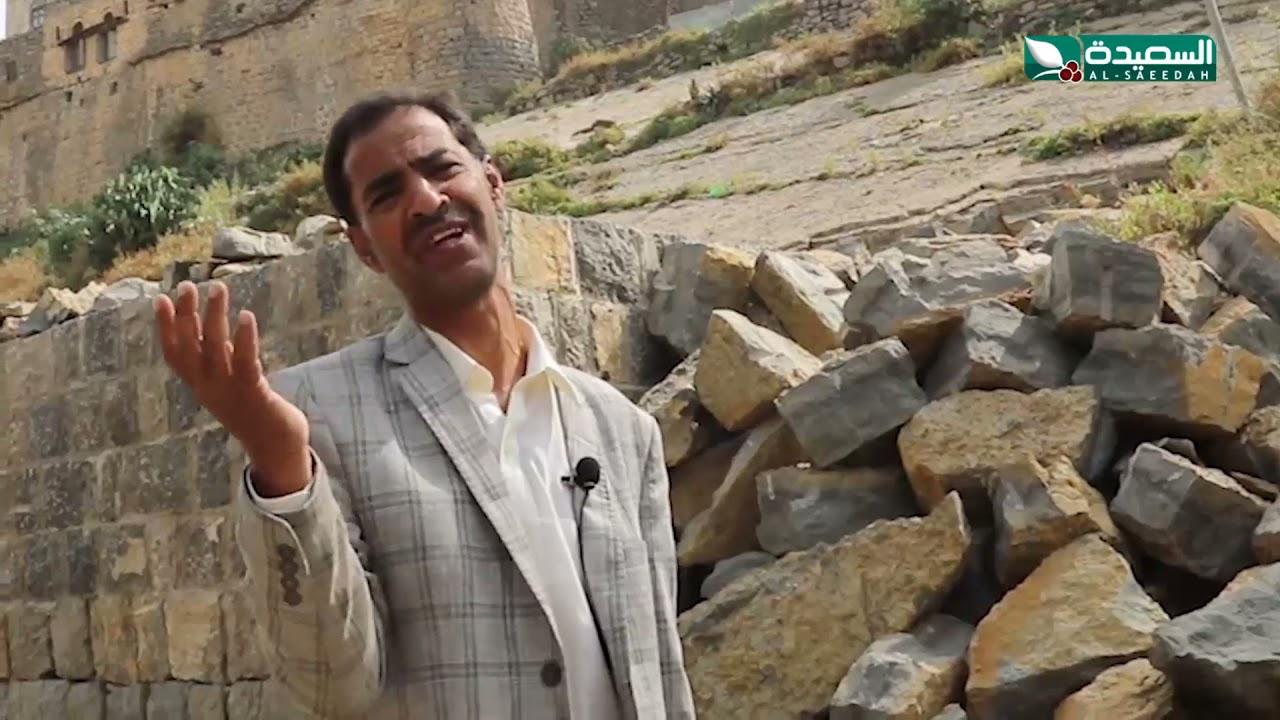 على صخرة صماء ولها باب واحد.. قرية اثرية في المحويت مازالت مسكونة