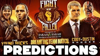 AEW Fight for the Fallen Predictions