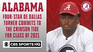 Four-star DE Dallas Turner commits to the Crimson Tide for Class of 2021 | CBS Sports HQ