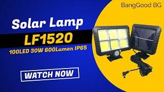 IPRee COB 100LED 30W 600Lumen IP65 Solar Lamp 5M CABLE Camping Light BEST PRICE !!!