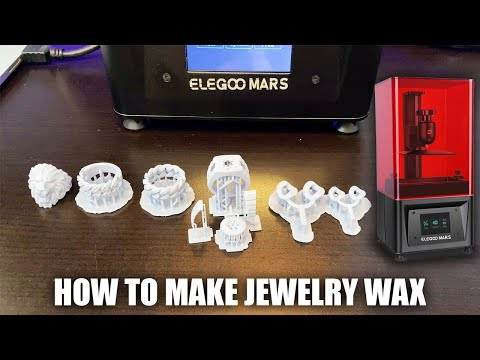 How To Make Jewelry Wax With A $200 Resin 3D Printer (Mars Elegoo)