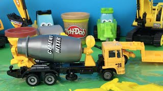 Excavator and Bulldozer Construction Toys - Paw Patrol Mighty Machines - Cement Truck and Trailer
