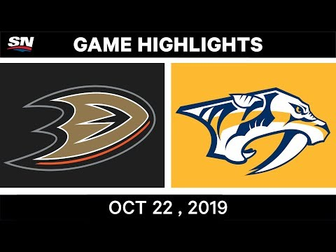 NHL Highlights | Ducks vs Predators – Oct 22, 2019