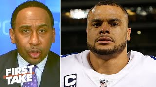 Stephen A. reacts to Dak Prescott being franchise tagged by the Cowboys | First Take