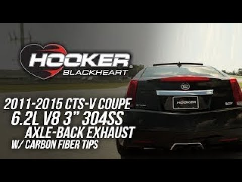 2011-2015 CTS-V Coupe 6.2L V8 - Hooker Blackheart Axle Back Exhaust System 70401345-RHKR
